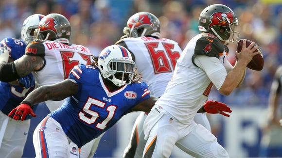 Brandon Spikes played for the Buffalo Bills in 2014.