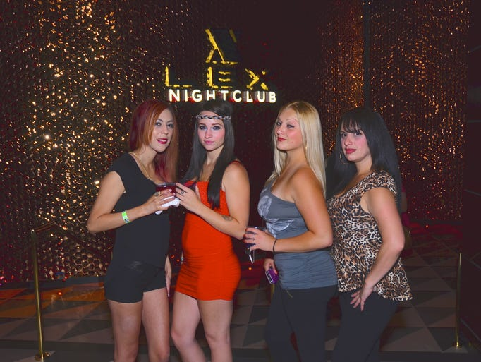 Melisa Placencia , Sammi Marsh, Alicia Nutterfield, and Heather Naules at the new Lex Nightclub inside the Grand Sierra Resort.