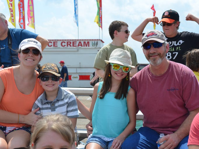 People at the Wings Over Halls air show at Dyersburg Army Air Base's Arnold Field, Sunday, August 17, 2014.