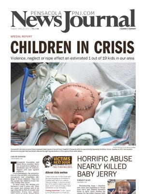 Victims Next Door, a seven-day series focusing on the increasingly violent epidemic of child abuse in Escambia and Santa Rosa counties, won a first-place award in the Community Leadership category for newspapers with circulation below 50,000, and the Gold Medal, which is the top prize in the contest for all newspapers regardless of size, from the Florida Society of News Editors.
