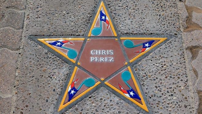 Chris Perez's star was installed Thursday, May 31, 2017, at the South Texas Music Walk of Fame in Corpus Christi. The six 2017 inductees will be honored Saturday.
