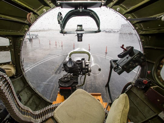 Inside the B-17 bomber Aluminum Overcast, one of the