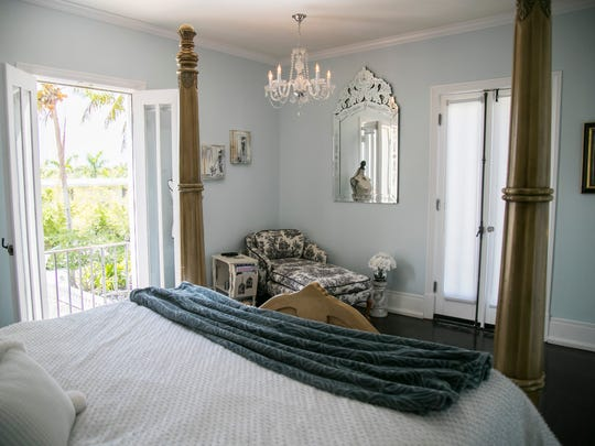 Lerner rents out two rooms and a cottage on her property on Airbnb. This is the French room.