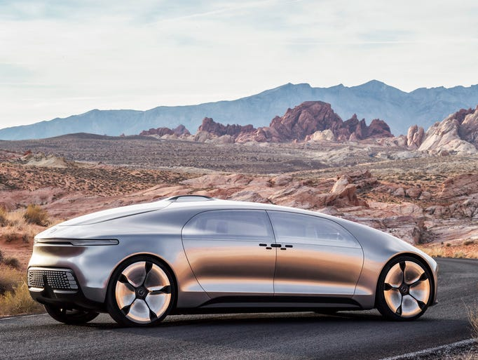 "Mercedes-Benz F 015: Also dubbed ""Luxury in Motion,"""