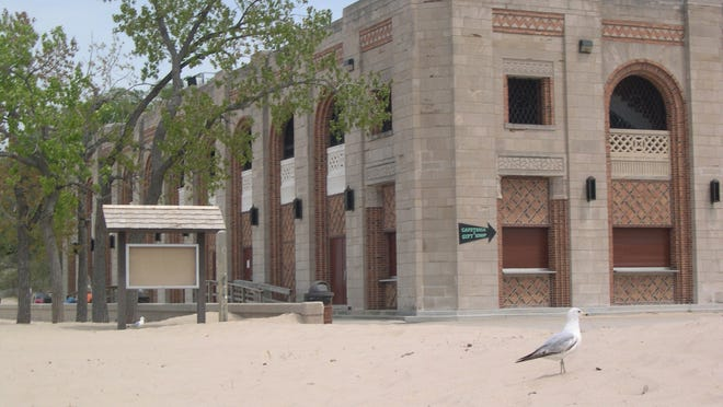 The 1930s-era Indiana Dunes Beach Pavillion is at the Indiana Dunes State Park in Chesterton.