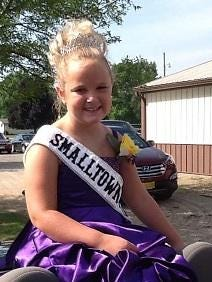 Violet Hughes, 8-year-old daughter of Jon and Rachel Hughes, Fond du Lac, earned the title of 2015 Small Town Princess and $100 cash by selling 305 tickets for total sales of $1,020.