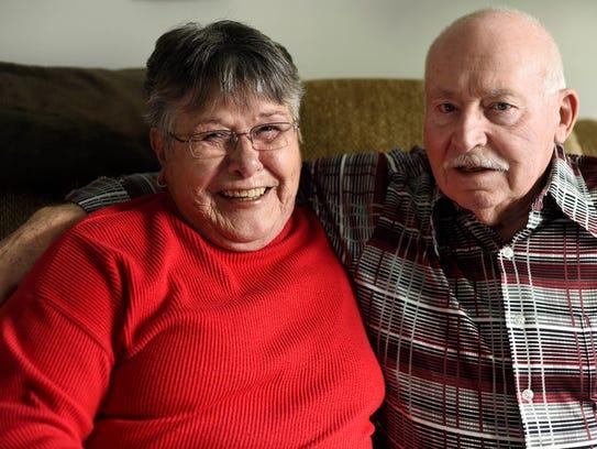Joyce and Glenn Reisigner at their home in Springettsbury