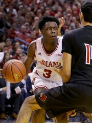 IU's OG Anunoby will enter the NBA draft despite missing most of the 2017 season with a knee injury.