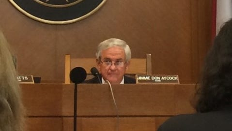 House Public Education Committee Chairman Jimmie Don Aycock listens to testimony on school choice Monday in Austin.