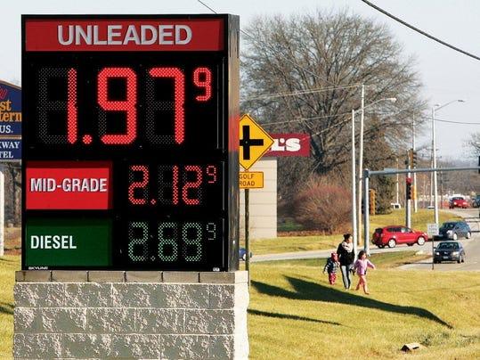 AP GAS PRICES ILLINOIS F USA IL