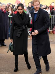 Prince Harry and Meghan Markle on a walkabout at Cardiff