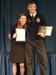 Ben Roeder and his sister Caroline had quite a night at the 2016 Montana State FFA Convention. Ben received the state proficiency award in sheep production, the top honor for a young sheep producer. Caroline received the Montana Star Greenhand Award, the top honor for a freshman in FFA.