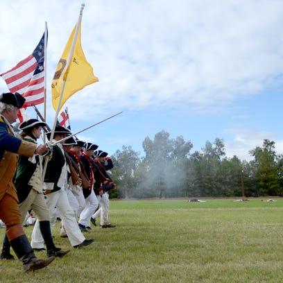Revolutionary War reenactors do what some Flagstaff