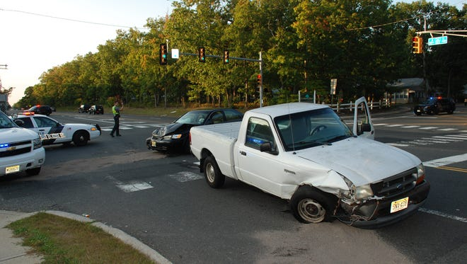 Two vehicles collided Thursday afternoon at the intersection of Route 571 and Commonwealth Boulevard in Manchester.