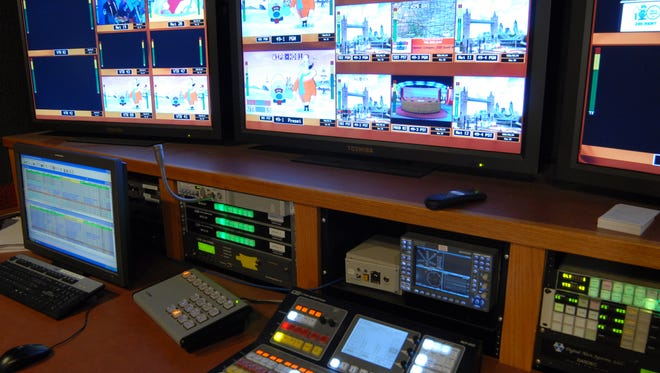 A studio at WIPB, which could be taken off the air if Ball State University is offered enough money in an auction of wireless frequencies.