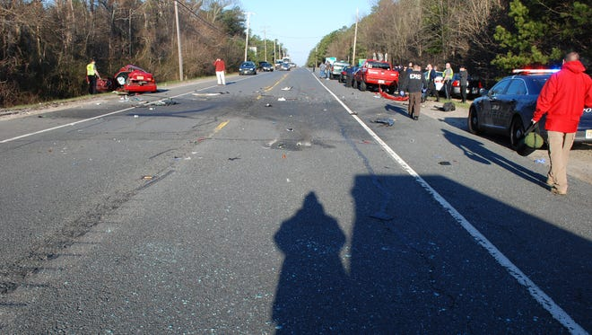 Police say a man was killed after he was thrown from his car in this crash.