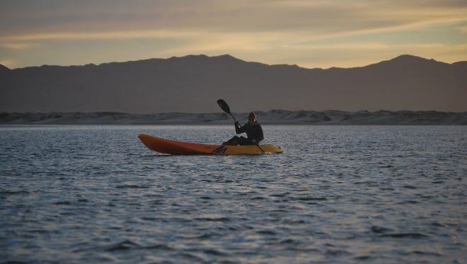 Kayaking in Baja, Mexico.