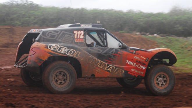 Ikuo Hanawa in the No. 712 Geolander won the main event at APL Smokin Wheels 2018 at the Guam International Raceway.