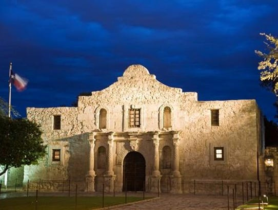 The Alamo, the most famous landmark in Texas, is the