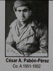 Korean War veteran Cesar Pabon Peres in a 1950-1951 photo.