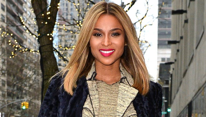 """Ciara departs """"The View"""" at ABC Studios after announcing she's pregnant on Jan. 14 in New York City."""