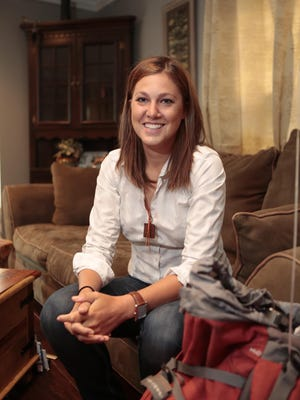 Jamie Berndt, a registered nurse in the emergency room at Phelps Memorial Hospital, is pictured at her home in Buchanan on Tuesday. She just returned from Nepal where she helped with the relief efforts after the earthquake.
