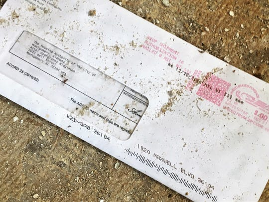 Old mail inside the Wharton-Chappell House on Maxwell Boulevard addressed to the Montgomery Housing Authority, which left the property in 2006.