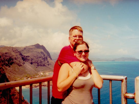 Laura and Travis Youngblood while stationed in Hawaii.