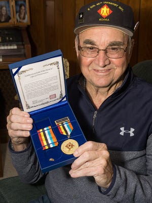 Robert Houghton received a medal from the Republic of Korea 65 years after his service in the Korean War.