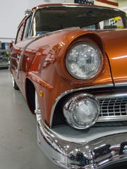 Lots of chrome and beautiful lines on the 1955 Ford