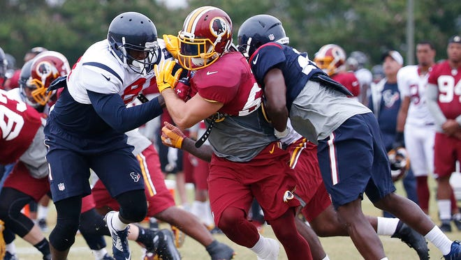 The Texans and Redskins convened for three days of joint practice earlier this August in Richmond, Va.