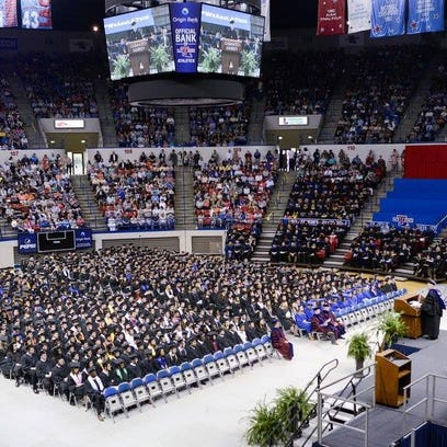 Louisiana Tech University closed out its spring quarter Saturday with the rewarding of degrees to 861 graduates.