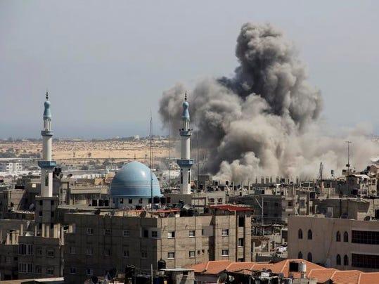 Israel Palestinians Nonstop Rockets
