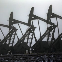 The number of oil drill rigs in North Dakota has fallen sharply in recent months. (AP Photo/Eric Gay, File)