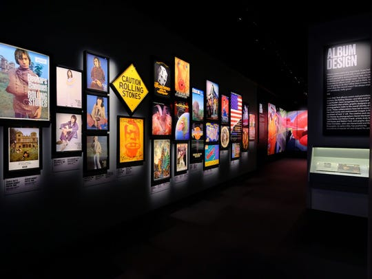 "Album design is one part of the ""Exhibitionism"" exhibit"