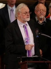 At Central United Methodist Church in Detroit on Nov. 14, 2016, Rev. Ed Rowe talks about churches offering sanctuary to immigrants