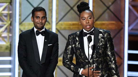 Aziz Ansari and Lena Waithe took home the award for outstanding writing for a comedy series.