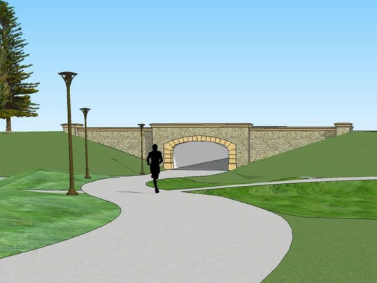 The passageway will go under Fleur Drive and connect