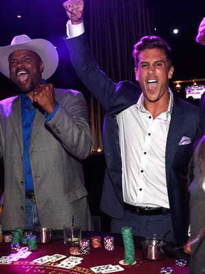 Jordan Rodgers joins singer/songwriter Cowboy Troy for On Deck With The Deckers  on June 16, 2015 in Nashville. The event, hosted by the Eric And Jessie Decker Foundation, positively impacts the lives of United States military service members and veterans as well as service animals.
