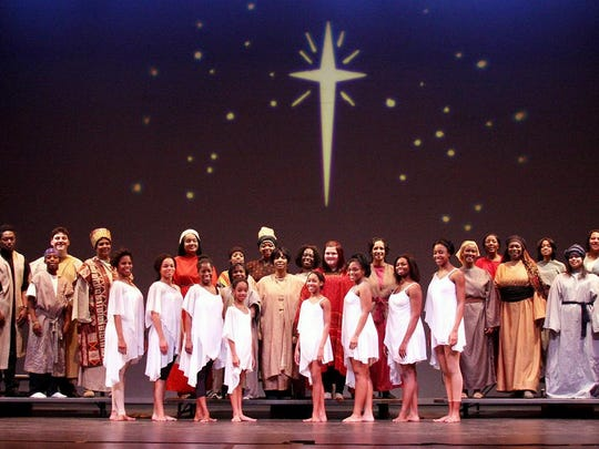 """A cast of more than 40 performers brings the Langston Hughes theatrical gospel celebration """"Black Nativity"""" back to Red Bank's Count Basie Theatre on Dec. 27, in a staging directed by Basie board member Darrell Willis Sr."""