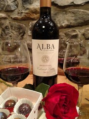 Alba Vineyard's Wine and Chocolate Weekends will be Feb. 10, 11, 17 and 18.