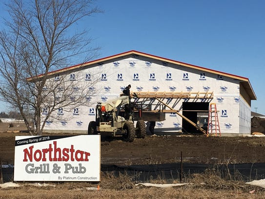 The Northstar Grill & Pub, under construction along