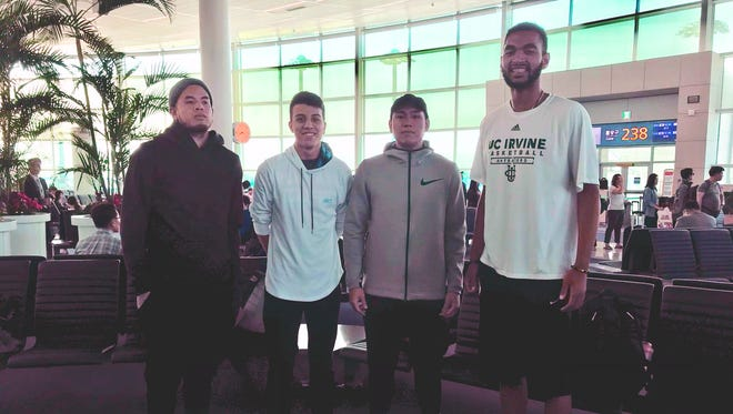 Guam's 3X3 national team is off to China to face the best ballers on this side of the globe at the FIBA Asia 3X3 Championships in Shenzen, China, April 27 to May 2. They are from left, Daren Hechanova, Takumi Simon, Earvin Jose and Jonathan Galloway.