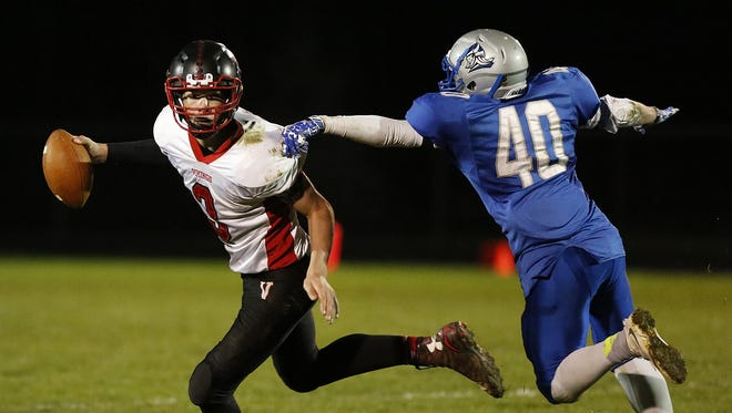 Winnebago Lutheran Academy football hosts Valders High School, Friday October 21, 2016 in a division 5 level 1 playoff game in Fond du Lac.