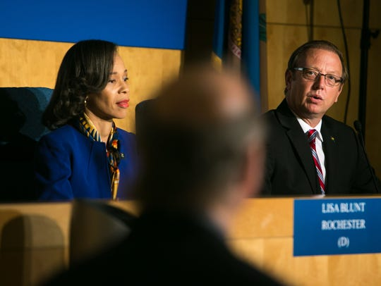 Congressional candidates Lisa Blunt Rochester and Hans