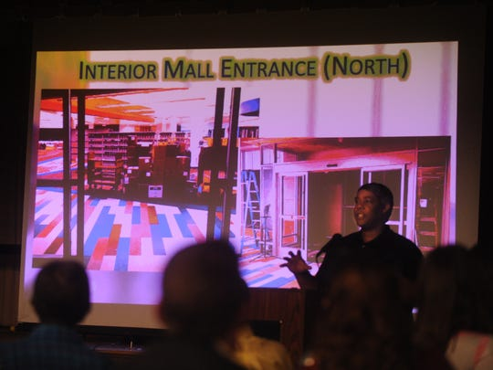 Tremain Jackson talks about the features of the new South Branch of the Abilene Public Library at the Friends of the Library Annual Meeting Tuesday, Nov. 1, 2016.