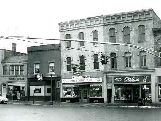 The 200 block of East Grand River Avenue in what was