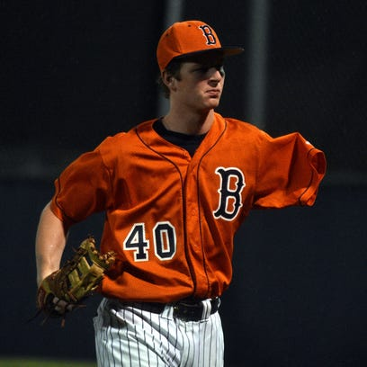 One-armed and ready: Beech's Jay Fleming keeps swinging