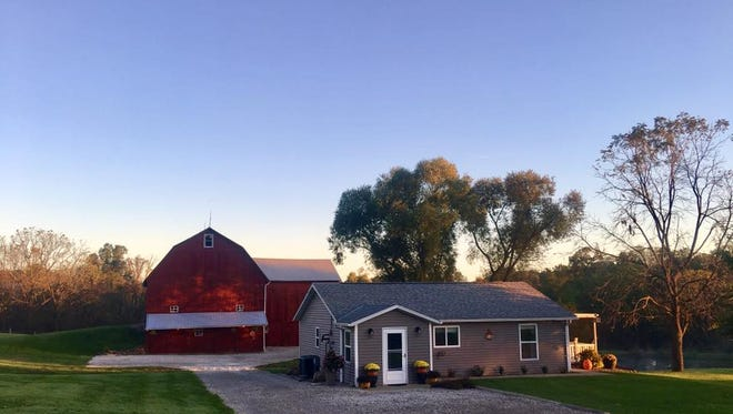 The carriage house and barn on Hoover Road.