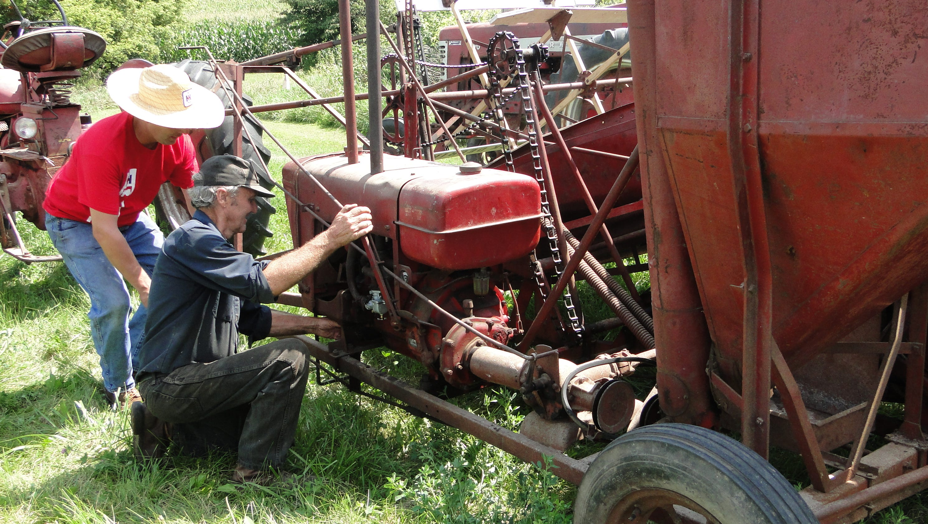 Harvesting the old-fashioned way